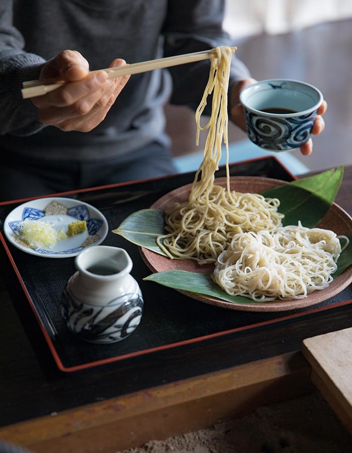 Hand-made soba  Takushoan